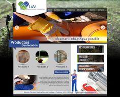 Maqueta de Sitio Web para LyV Soluciones