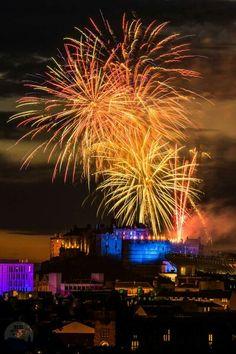 Edinburgh Tatoo fireworks