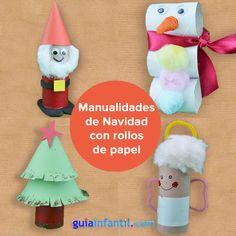 Pres pio de natal com rolo de papel higi nico https for Manualidades para ninos de navidad faciles