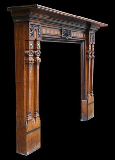 Large high quality Victorian mahogany fireplace surround