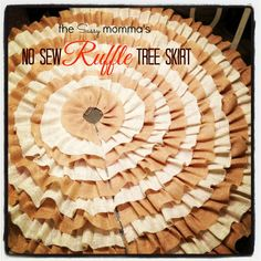 DIY :: No Sew Ruffle Christmas Tree Skirt (with a VIDEO)