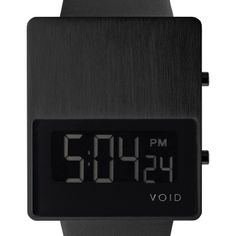 VOID V01 (black) watch by VOID. Available at Dezeen Watch Store: www.dezeenwatchstore.com