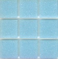 Mosaic glass tile modwalls opaque blue Brio Color Pale Blue