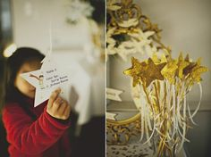 decoração em branco e dourado no tema Pequeno Príncipe