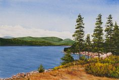 OTTER COVE - Acadia National Park, Maine. Signed limited edition (50) giclée print of a watercolor painting • Size: 20 X 14 inches $175 #Acadia #Maine #watercolor #painting