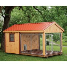 The Dog Kennel Collection specializes in dog houses of all sizes & colors, available in Lancaster County. Visit our site for more large dog houses! 10x10 Dog Kennel, Dog Kennel Roof, Dog Kennel Flooring, Metal Dog Kennel, Insulated Dog Kennels, Dog Enclosures, Luxury Dog Kennels, Dog Kennel Designs, Dog House Plans