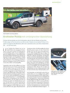 """Testfahrtbericht Fiat Fullback in Computern im Handwerk 1-2/2017: """"Kraftvoller Pickup mit umfangreicher Ausstattung"""", Seite 21/22"""