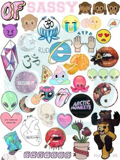 Set 120. Tumblr Stickers. Stickers. Set of by BestStickersClub