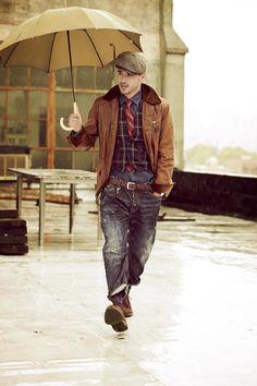 Brooklyn Chic #look para el 2014 #newyear model Arthur Kulkov #men #trends