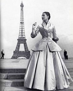 Dior's glamorous Zemire (1954), a full length skirt, bodice and long jacket by Louise Dahl-Wolf