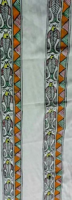 Saree Painting, Kerala Mural Painting, Fabric Painting, Indian Traditional Paintings, Indian Paintings, Madhubani Art, Madhubani Painting, Indian Arts And Crafts, Indian Folk Art