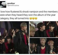 They were so surprised and I'm just so proud of my babies! Congrats Bangtan! Saranghae~!