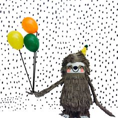 Sloth Piñata by @whackpinatas! #sloth #Party #partyplanning- Let's hang out! This completely original sloth piñata would make such a fun addition to any party. The piñata is completely hand sculpted and finished with premium crepe paper.All pieces ar...
