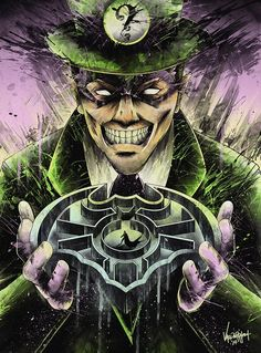 "The Riddler ""Maze"" Dc Comics Superheroes, Dc Comics Characters, Dc Comics Art, Gotham Villains, Best Villains, Batman Art, Batman And Superman, Batman Stuff, Comic Books Art"