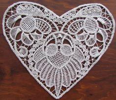 Romanian Point Lace crochet Heart