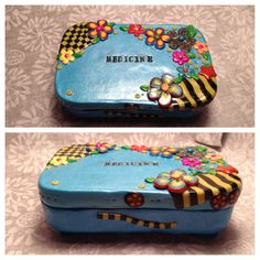 Medicine. Polymer clay covered altoids tin made by India Hudson.