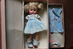 Gorgeous transitional vogue doll in box with pull out drawer