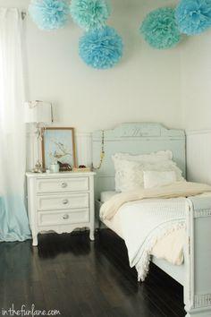 blue ombre bedroom
