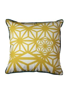 Pattern on a pillow. This is like jali pattern gone all crazy awry but I like it.