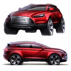 Ford Kuga Concept Design Sketch by Denis Zhuravlev