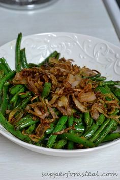 Green Beans with Crispy Fried Shallots