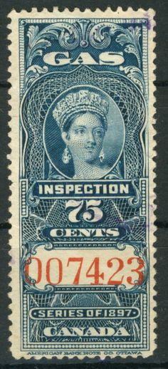 Old Canadian Gas Inspection Stamp. More about stamps: http://sammler.com/stamps/