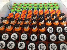 Inspire sua Festa ® | Blog sobre festas e maternidade Goku Birthday, Ball Birthday, 10th Birthday Parties, Birthday Celebration, Tarta Dragon Ball, Cupcakes, Cupcake Cakes, Dragonball Z Cake, Anime Cake