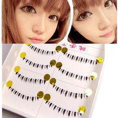10Pairs Lower Lashes Bottom False Eyelashes Handmade Under Fake Eye Lashes Cosmetics Makeup Maquiagem