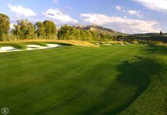 The fairway at hole 14 #JacksonHole // 3 Creek Ranch Golf Club