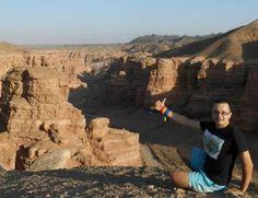 Înconjurul lumii cu autostopul, Timo la Marele Canion din KAZAHSTAN