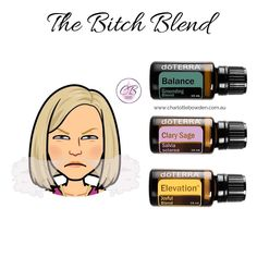 The bitch blend. Clary Sage Essential Oil, Essential Oils Guide, Clary Sage Doterra, Essential Oil Diffuser Blends, Doterra Diffuser, Doterra Essential Oils, My Doterra, Essential Oil Perfume, Osho