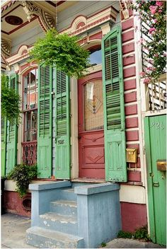 New Orleans Shotgun House I LIVED IN ONE LIKE THIS WHEN I WAS A CHILD.IT WAS IN LAUREL ST. IN NEW ORLEANS