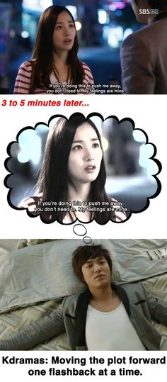 kdrama flashbacks ^^ Amazing that the writers think we can't remember something that Just Happened.