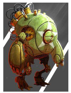 Robot, Ryan Winch on ArtStation at https://www.artstation.com/artwork/wEq1Z