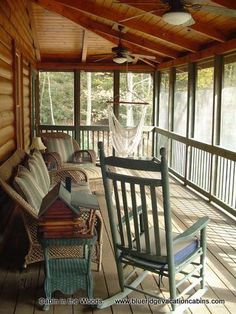 Cabin in the Woods Valle Crucis Log Cabin Rental halloween rocking chair Gone are the days when decorating was a a single-and-done deal. Log Cabin Kits, Log Cabin Homes, Log Cabins, Rustic Cabins, Cabin Ideas, Rustic Cabin Decor, Wooden Cabins, Lodge Decor, Barn Homes