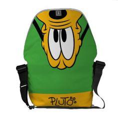 Pluto Peek-a-Boo Courier Bag , Custom Messenger Bags, Cool Messenger Bags, Disney Princess Tiana, Mickey Mouse And Friends, Custom Luggage Tags, Business Card Size, Cartoon Dog, Leather Luggage, Peek A Boos
