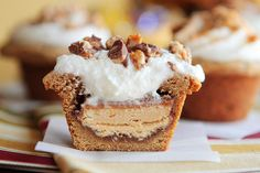 candy bar stuffed cookie cups