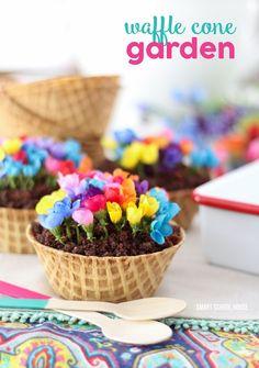 Waffle Cone Garden Recipe Idea