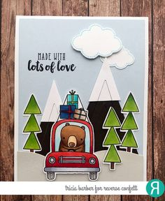Card by Tricia Barber. Reverse Confetti stamp sets: Bearing Gifts, Take Flight, and Simply Sentiments. Confetti Cuts: Bearing Gifts, Take Flight and Tall Triangles. Father's Day card. Masculine card.