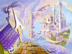 Windy City. Location for the game by fedormariev.deviantart.com on @deviantART #fantasy #art