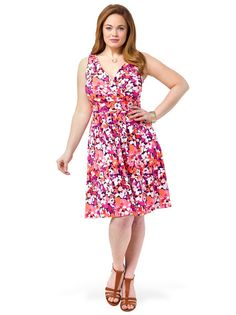 Fit & Flare Dress In Shadow Floral