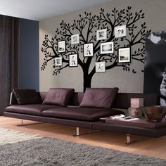 Finest Large Wall Decals For Living Room Vinyl Wall Decal Large Tree Living Room Vinyl, Living Room Murals, Big Living Rooms, Living At Home, Living Room Decor, Wall Murals, Wall Stickers Family, Large Wall Decals, Vinyl Wall Art