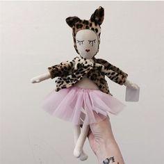 Studio Escargot Leopard Ballerina Doll - EXCLUSIVE