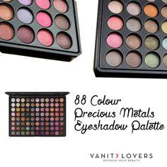 Bellissimi, super colorati, irresistibili… sono i colori della 88 Colour Precious Metals Eyeshadow Palette di #BlushProfessional http://www.vanitylovers.com/brands/blush-professional/blush-professional-88colour-metals-palette.html?utm_source=pinterest.com&utm_medium=post&utm_content=vanity-blushp-88colour-precious&utm_campaign=pin-vanity