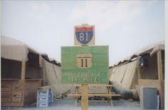 On a 2003 deployment, a long, long way from home.