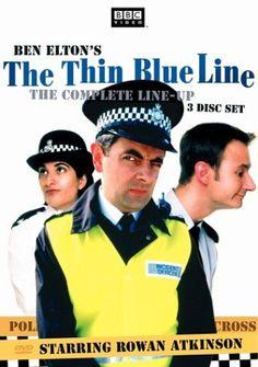 Thin Blue Line Rowan Atkinson Colour Door Poster