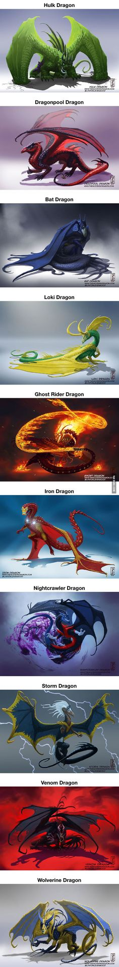 Super heroes if they were a dragon