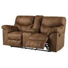Boxberg Brown Power Reclining Loveseat Loveseat Recliners, Leather Loveseat, Power Recliners, Sofas, Power Reclining Loveseat, Console Storage, Modern Couch, Sofa Sale, Signature Design
