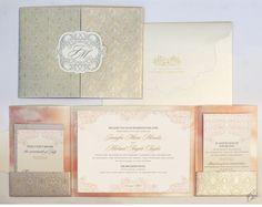 Luxury Wedding Invitations by Ceci New York - Elegant Pink & Gold Wedding