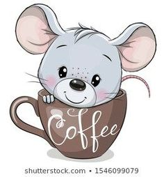 Find Cute Cartoon Mouse Sitting Cup Coffee stock images in HD and millions of other royalty-free stock photos, illustrations and vectors in the Shutterstock collection. Thousands of new, high-quality pictures added every day. Illustration Mignonne, Cute Illustration, Cartoon Illustrations, Cartoon Cartoon, Cartoon Images, Cartoon Characters, Cartoon Mignon, Coffee Vector, Cute Cups